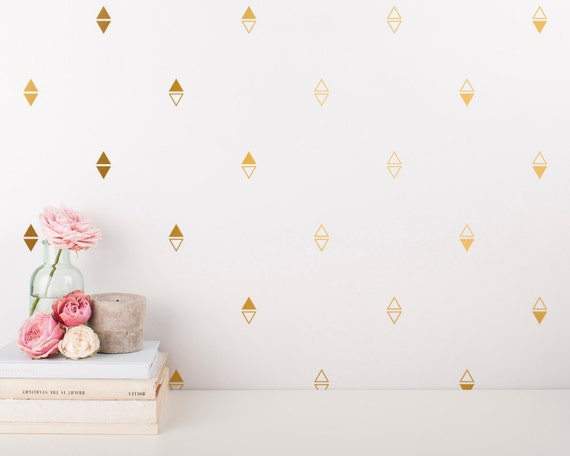 Arrow Wall Decals - Triangle Vinyl Wall Decals, Gold Decals, Nursery Decals, Geometric Wall Decals, Unique Decor for Gifts and More!