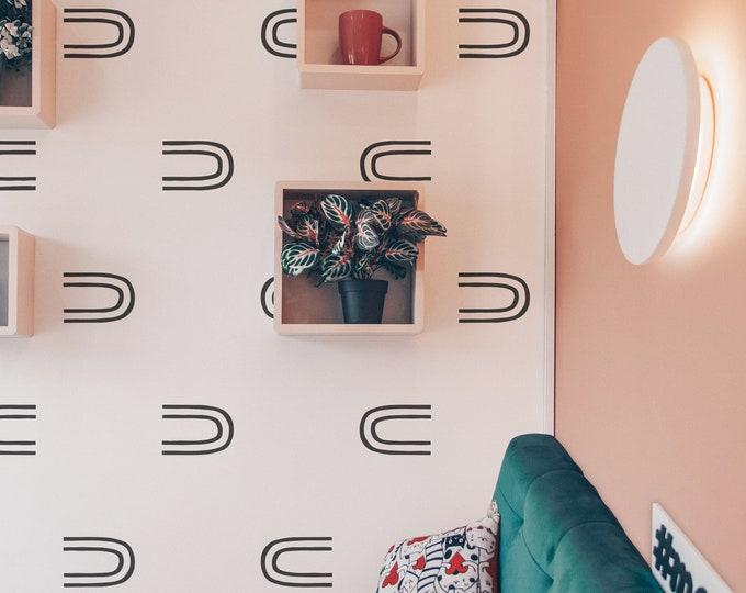Minimalist Wall Decals - Abstract Wall Stickers, Boho Nursery Decor, Kids Room Decals, Scandinavian Decor, Modern Farmhouse Decor