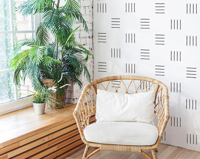 Line Wall Decals - Abstract Wall Decor, Boho Nursery Wall Stickers, Kids Room Wall Art, Modern Farmhouse Decor