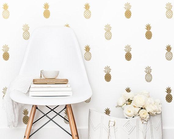 Pineapple Wall Decals - Pineapple Decals, Pineapple Decor, Pineapple Gift, Gift for Her, Wall Decor, Wall Stickers, Pineapple Wall Art