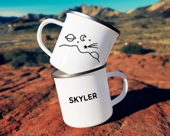 Personalized Camp Mug - Custom Name Mug, Personalized Mug, Mug Gift, Adventure, Wanderlust, Outer Space Mug, Personalized Gift, Custom Gift