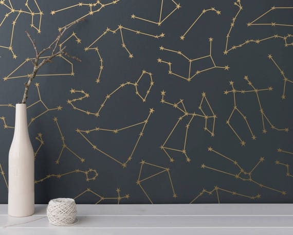 Zodiac Constellation Wall Decals - Star Decals, Zodiac Gift, Vinyl Wall Decals, Star Wall Stickers, Wall Decor, GIft for Her, Gift for Women