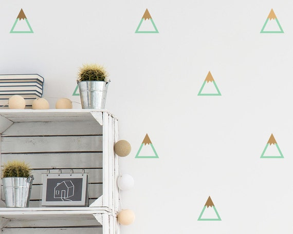 Mountain Wall Decals - Nursery Decals, Triangle Decals, Geometric Decals, Modern Wall Decals, Unique Wall Decor