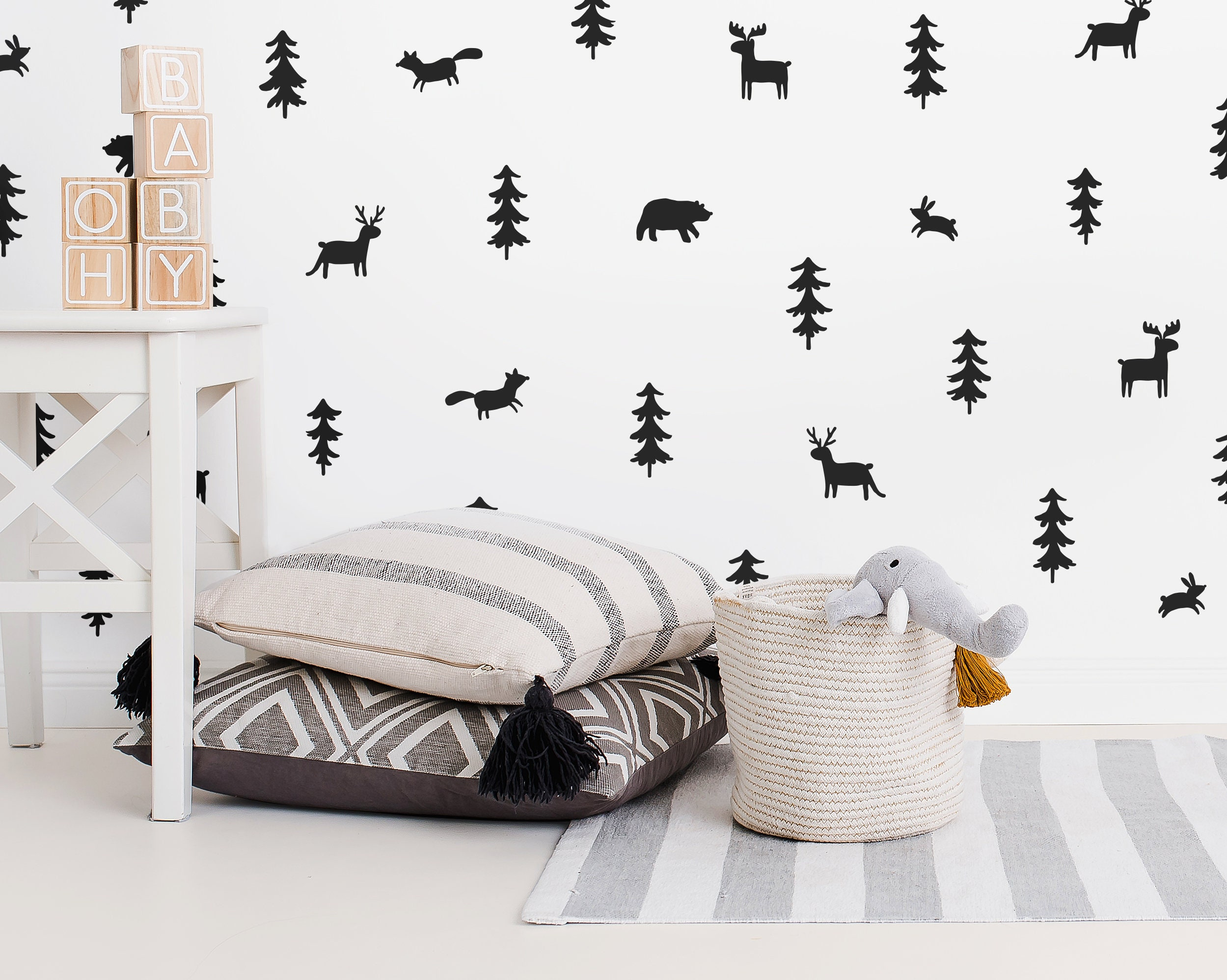 Woodland Wall Decals - Woodland Nursery Wall Stickers, Nursery ...