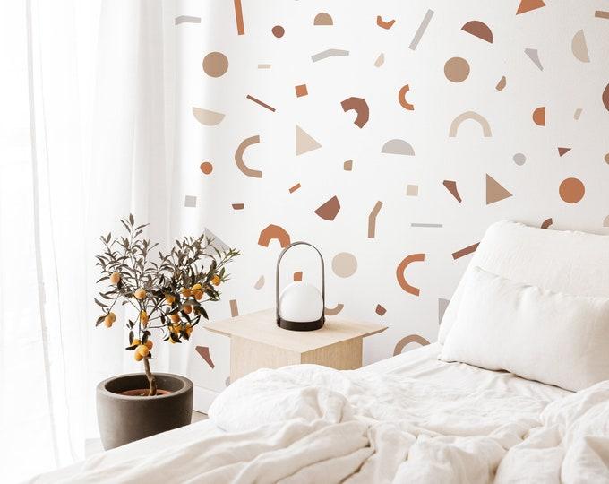Terrazzo Wall Decals - Removable Wall Stickers, Boho Wall Decor, Minimalist Wall Art