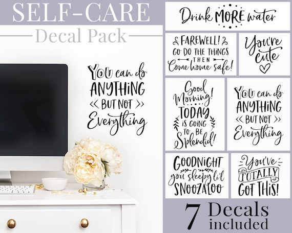 Self-Care Decals - Self Care Stickers, Self Care Package, Self Care Decals, Self Care Gift, Self Care Kit, Self Care, Self-Care, Friend Gift