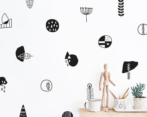 Modern Scandinavian Wall Decals - Geometric Decals, Vinyl Wall Decals, Nordic Style Home Decor, Modern Wall Decals, Nursery Wall Decals