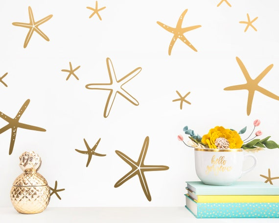 Starfish Wall Decals - Mermaid Wall Decal, Starfish Decals, Starfish Sticker, Mermaid Nursery, Gift For Her, Gift For Daughters, Wall Decal