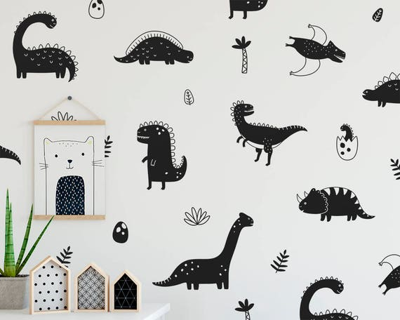 Dinosaur Wall Decals - Boy Nursery Decor, Girl Nursery Decor, Gift for Mom, Dinosaur Decor, Nursery, Wall Decor, Wall Art, Decal, Kids Room