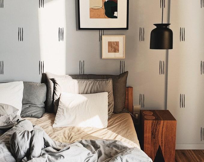 Minimalist Line Wall Decals - Modern Wall Stickers, Boho Nursery Decor, Kids Room Wall Art, Scandinavian Home Decor