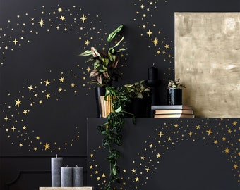 Sparkles and Stars Wall Decals -  Nursery Decals, Star Decals, Kids Room Decor, Nursery Wall Art, Celestial Wall Stickers