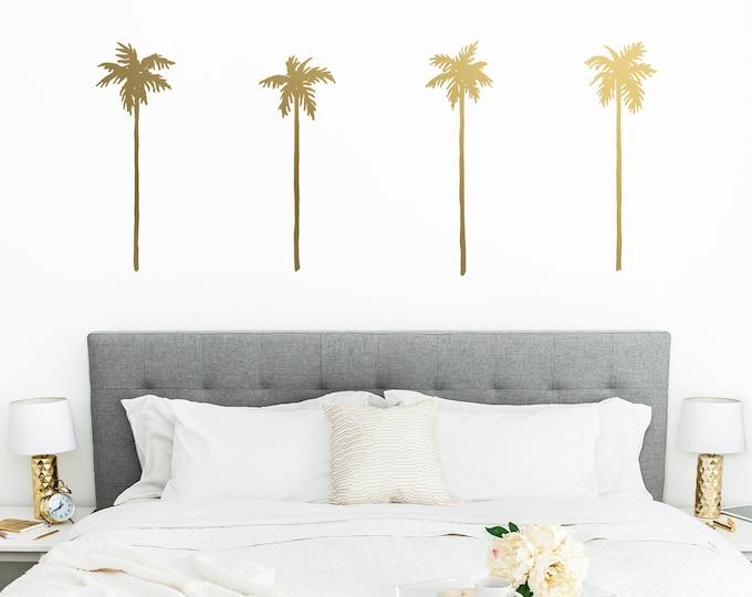 Palm Tree Wall Decals - Palm Decals, Wall Stickers, Beach Decor, Beach Lover Gift, Tropical Decor, Palm Tree, Nursery Decor, Kids Room Decor