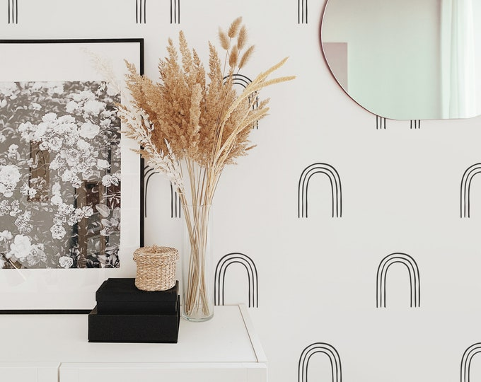 Arch Wall Decals - Modern Wall Stickers, Boho Nursery Decor, Kids Room Wall Art, Scandinavian Home Decor