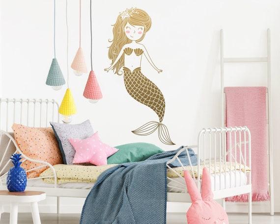Mermaid Wall Decal - Kids Room Decal,  Nursery Decal, Mermaid Decor, Wall Decor, Nursery Decor, Wall Art, Kids Room Decor, Mermaid, Decal
