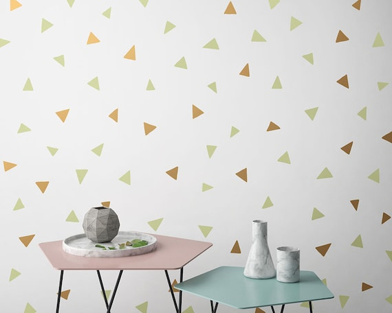 Triangle Wall Decals - Vinyl Wall Decals, Nursery Decals, Geometric Wall Decor, Multicolored Decals