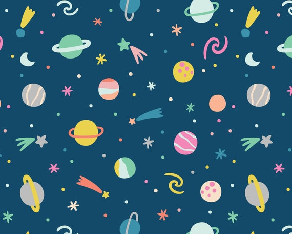 Outer Space Wallpaper - Peel and Stick Removable Wallpaper, Planet Wall Decor, Celestial Wall Art, Nursery Wallpaper, Kids Room Decor