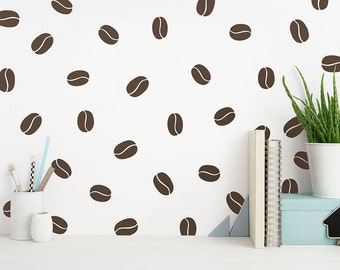 Coffee Bean Wall Decals - Modern Wall Decals, Unique Wall Decor, Removable Wall Stickers, Vinyl Wall Decals