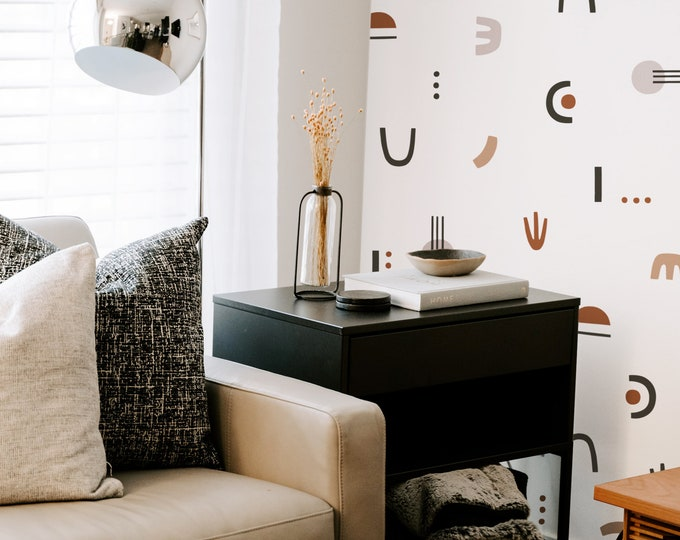 Abstract Shape Wall Decals - Removable Wall Stickers, Modern Wall Art, Minimal Home Decor