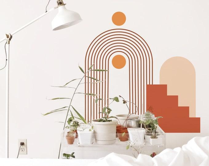 Boho Colorblock Wall Decals - Removable Wall Stickers, Modern Wall Art, Geometric Wall Decor, Nursery Decor
