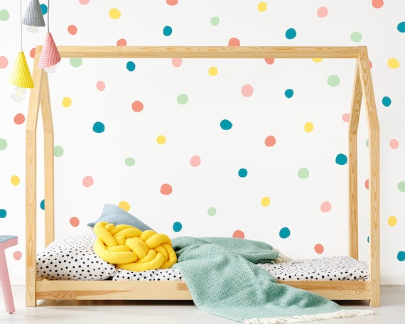 Polka Dot Wall Decals - Wall Decor, Reusable Decals, Nursery Decor, Confetti Decals, Dot Decals, Wall Art, Kids Room Decal, Sprinkle Decals