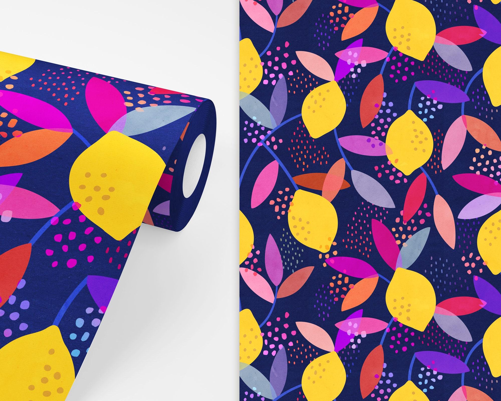 Lemon Floral Wallpaper Peel And Stick Removable Wallpaper