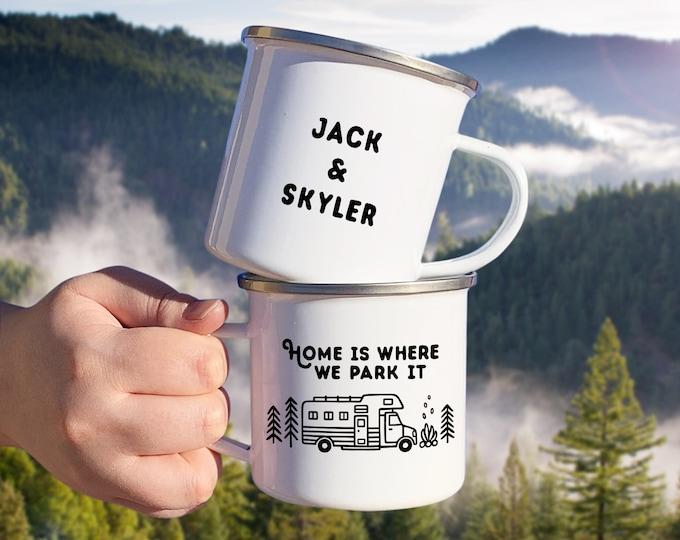 Personalized Camp Mug - Custom Name Mug, Personalized Mug, Camper, Camping Gift, Personalized Gift, Custom Gift, Wanderlust, Adventure Gift
