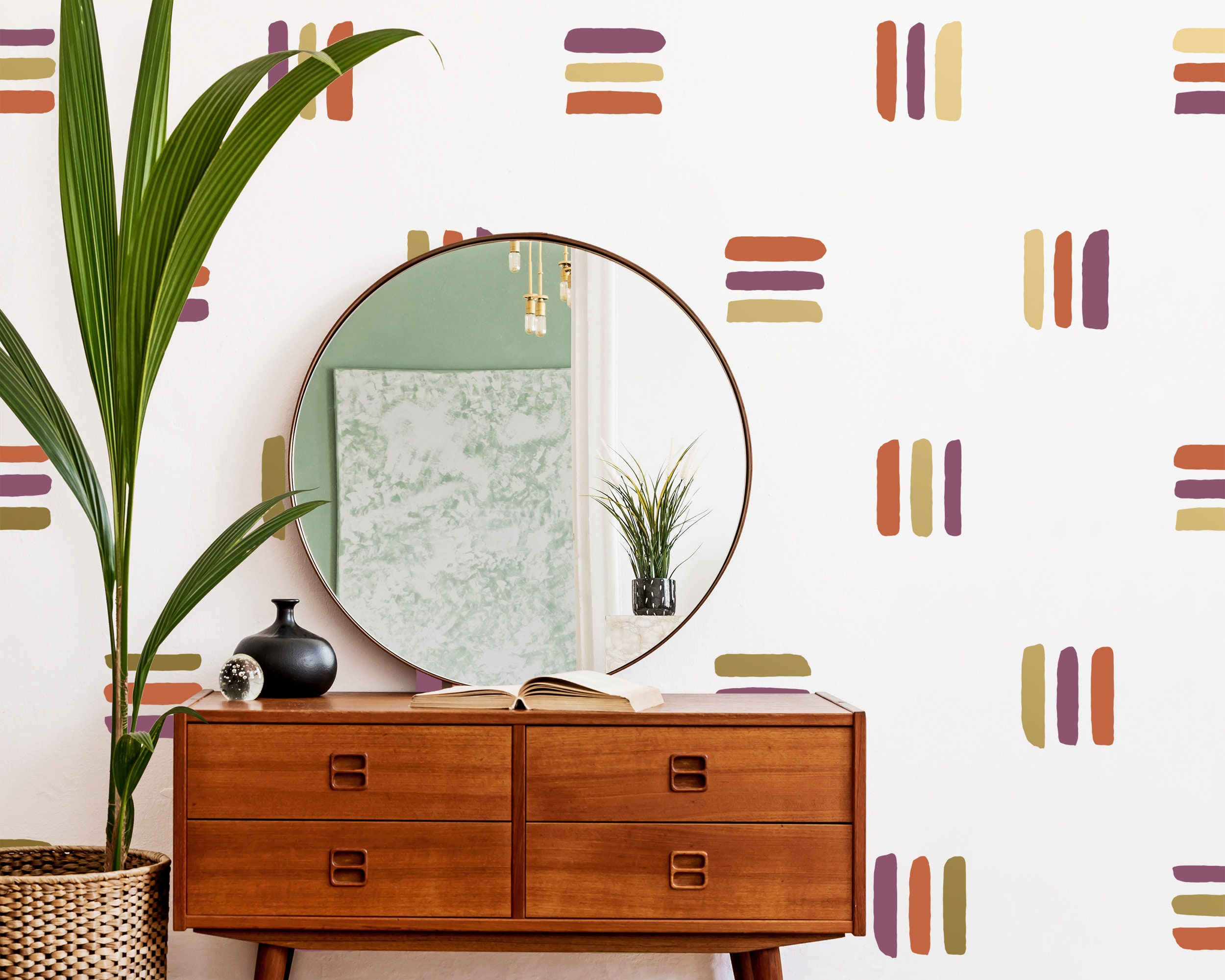 Abstract Line Wall Decals Removable Wall Stickers Modern Geometric Wall Art Bedroom Wall Decor Unique Gift For Home