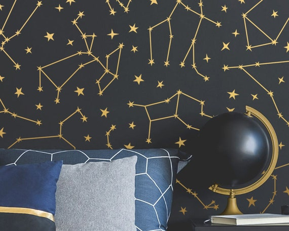 Zodiac Constellation Wall Decals - Star Decals, Zodiac Gift, Wall Decor, Gift for Her, Constellations, Wall Decals, Nursery Decor