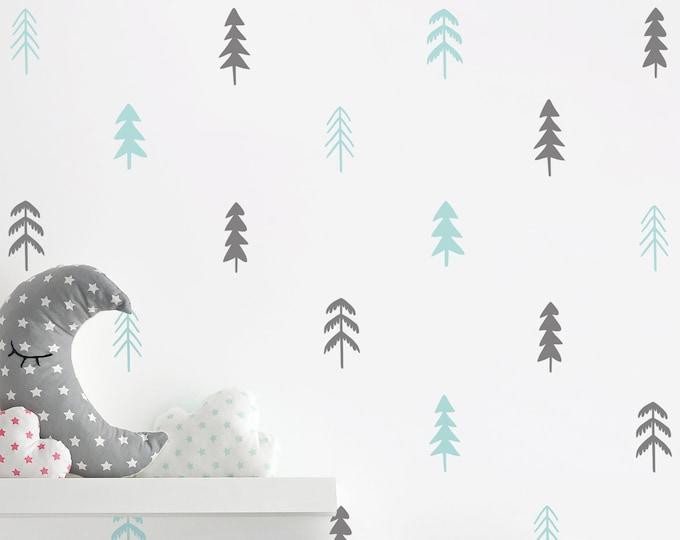 Tree Wall Decals - Woodland Nursery Decor, Nursery Decals, Unique Wall Decor, Woodland Decals, Kids Room Decor