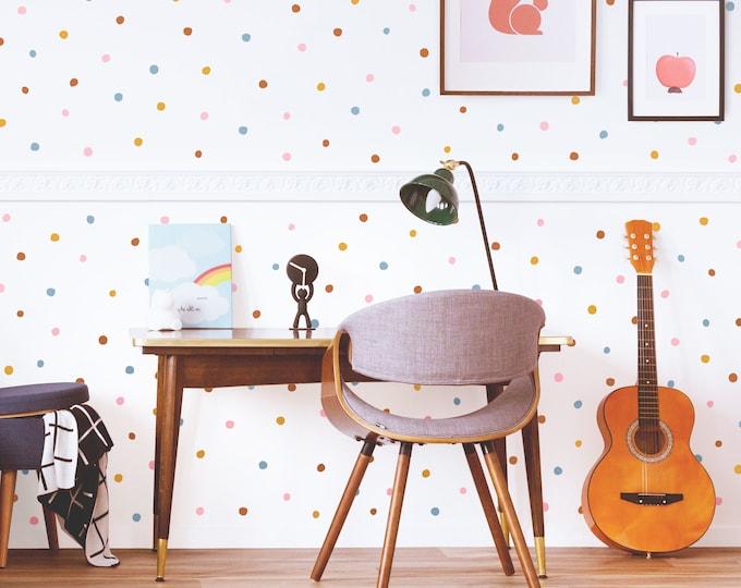 Polk-a-Dot Wall Decals - Removable Wall Stickers, Abstract Scandinavian Decor, Bedroom Wall Decor, Nursery Decor, Kids Room Wall Art