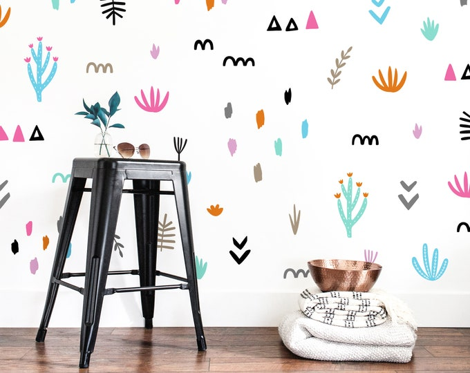 Abstract Pattern Wall Decals - Abstract Wall Decor, Modern Wall Art, Wall Decal Set, Unique Home Decor, Gift for Home