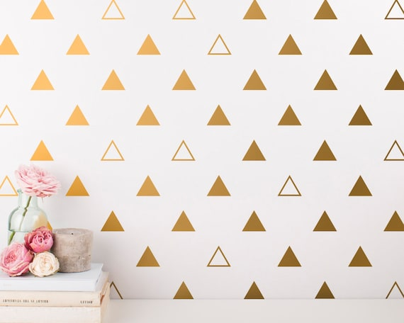 Triangle Wall Decals - Triangle Wall Decal Set, Vinyl Wall Decals, Wall Decor, Geometric Wall Decals, Triangle Wall Stickers