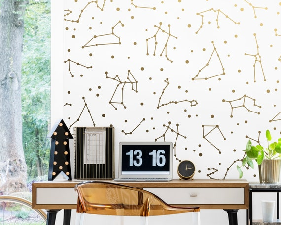 Zodiac Constellation Wall Decals - Constellation Decor, Zodiac Gift, Star Decals, Zodiac Decor, Constellation Art, Gift for Home, Celestial