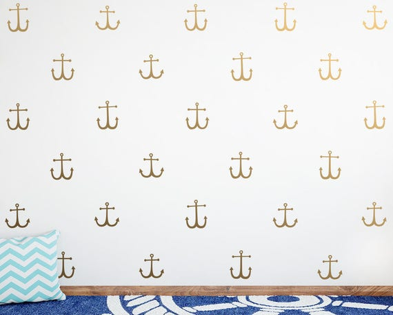 Anchor Wall Decals - Nautical Decals, Nursery Decals, Anchor Decals, Cute Nautical Decor, Kids Room Wall Stickers