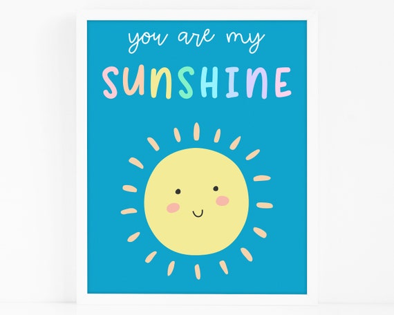 Sunshine Art Print - Kids Room Art Print, Nursery Art, Wall Art, Wall Decor, Gift for Kids, Gift for Mom