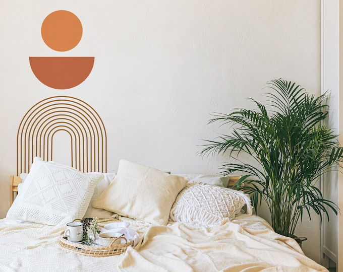 Boho Colorblock Wall Decals - Removable Wall Stickers, Abstract Modern Wall Art, Geometric Wall Decor