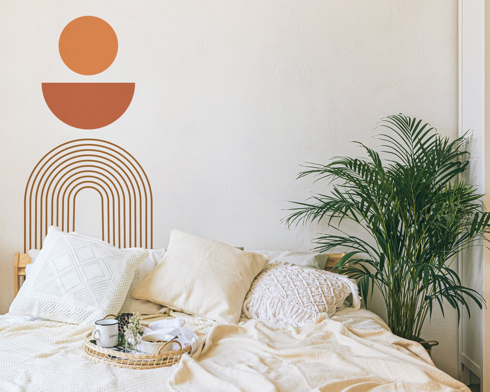 Boho Colorblock Wall Decals Removable Wall Stickers Abstract Modern Wall Art Geometric Wall Decor