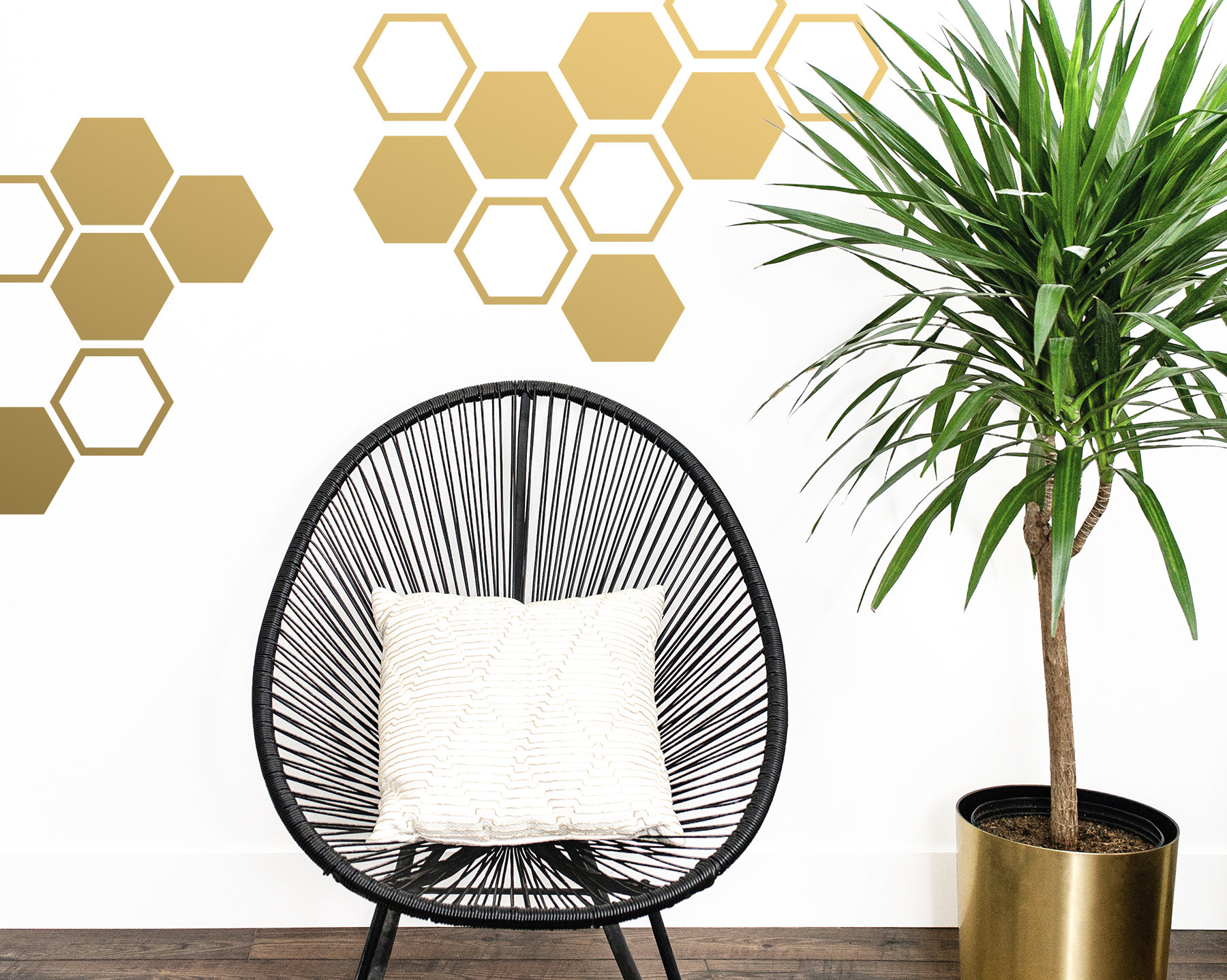 Large Honeycomb Wall Decals Hexagon Vinyl Decals