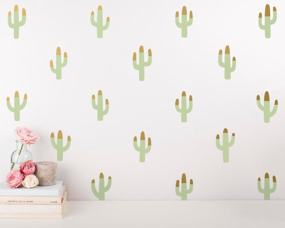 Cactus Wall Decals - Multicolored Decals, Nursery Decals, Vinyl Wall Decals, Tribal Nursery Decor, Modern Home Decor
