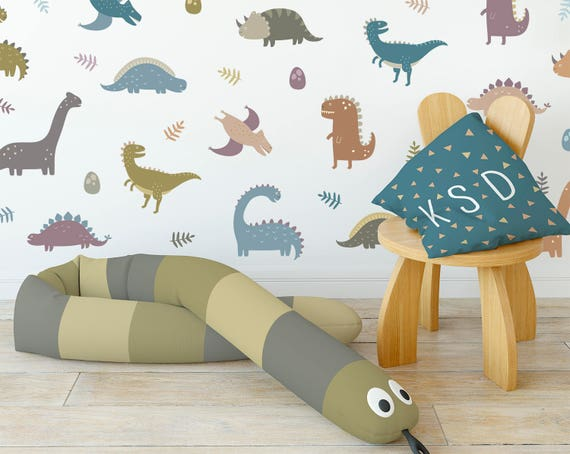 Dinosaur Wall Decals - Wall Decor, Dinosaur Decor, Nursery Decor, Dinosaur, Gift for Kid, Boys Room, Girls Room, Reusable Decal, Nursery Art