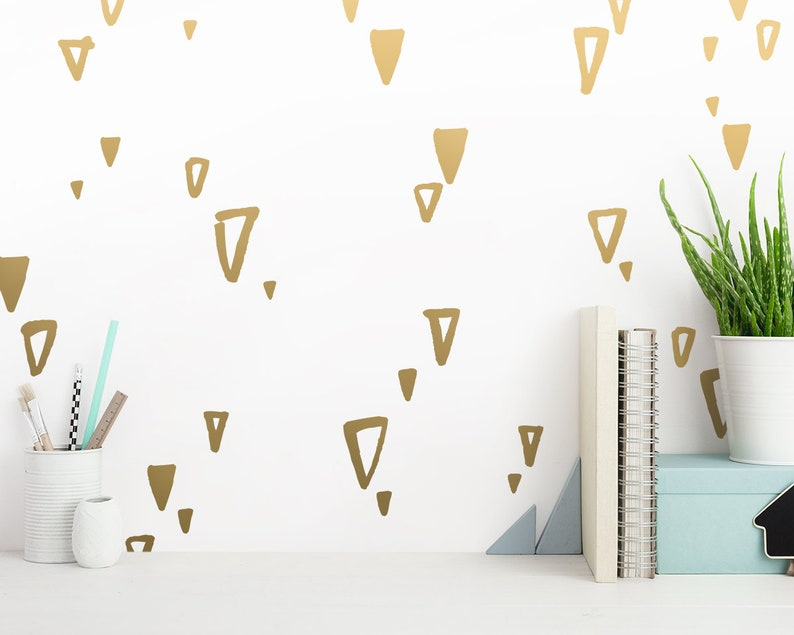 Sketched Triangle Wall Decals  Scandinavian Style Decals image 0