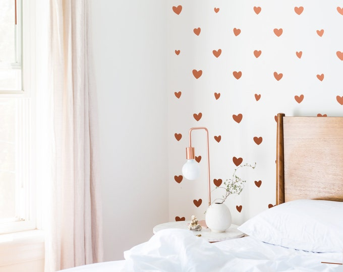 Heart Wall Decals - Nursery Wall Decals, Removable Wall Stickers, Kids Room Decor, Girl Room Wall Decor