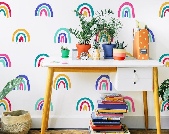 Rainbow Decals - Rainbow Wall Decor, Nursery Decor, Kids Room Wall Art