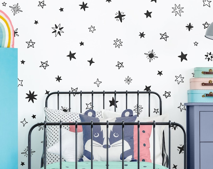 Sparkle and Star Wall Decals - Nursery Decals, Star Decals, Kids Room Decor, Nursery Decor, Wall Stickers