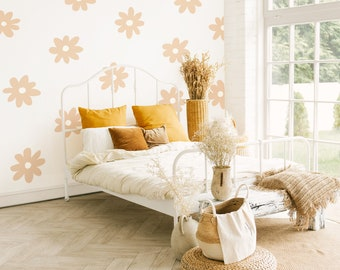 Daisy Wall Decals - Nursery Decor, Kids Room Wall Art, Removable Flower Wall Stickers