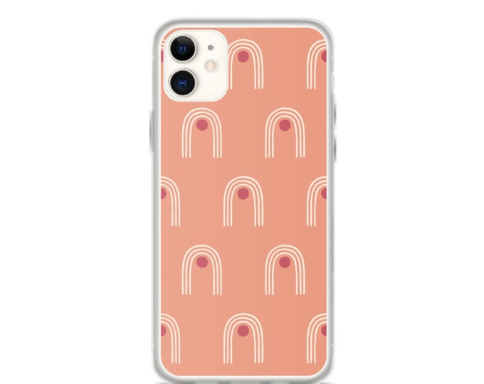 iPhone Case - Pink, Geometric Pattern Phone Case