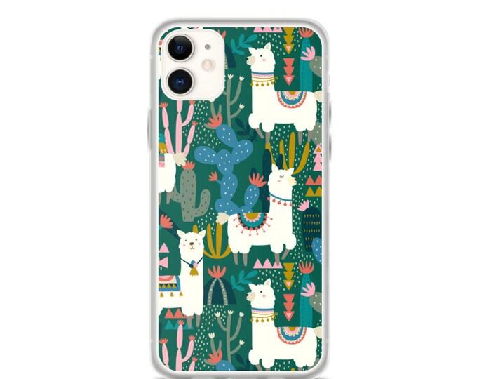 iPhone Case - Alpaca and Cactus Pattern Phone Case
