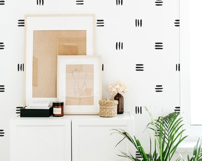 Line Wall Decals - Modern Wall Stickers, Boho Nursery Decor, Kids Room Wall Art, Scandinavian Home Decor