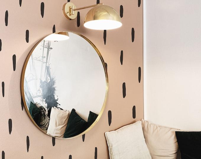 Abstract Line Wall Decals - Modern Wall Stickers, Boho Nursery Wall Decor, Modern Farmhouse Decor
