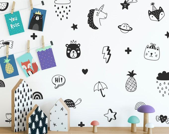 Kids Room Wall Decals - Nursery Decals, Nursery Wall Decor, Kids Room Decor, Nursery Decor, Wall Stickers